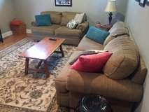 Couch, loveseat, and 5 throw pillows in Elgin, Illinois