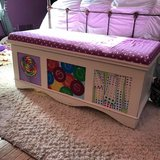 Storage Bench - originally painted by Carla Bank in Chicago, Illinois