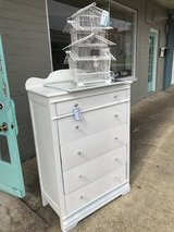 White Dresser w/ glass knobs in Fort Polk, Louisiana