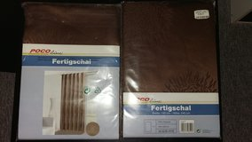 NEW Brown Curtains (2 pieces ) in Ramstein, Germany
