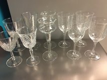 Etched Crystal Glasses - Set in Byron, Georgia