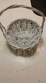 Used: Large Used Creme Colored Basket/can be painted & used to make a huge/beautiful basket for ... in Arlington, Texas