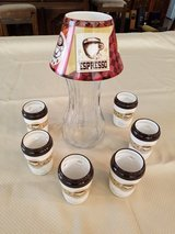YANKEE CANDLE VINTAGE COFFEE JAR SHADE & 6 CAFE COFFEE LATTE TEALIGHT HOLDER in Fort Leonard Wood, Missouri
