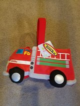 Easter fire truck basket nwt in Plainfield, Illinois