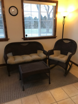 Wicker Resin Furniture Set in Aurora, Illinois