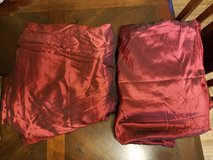 Dark red curtains 2 panels in Fort Drum, New York