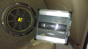 Subwoofer and amp in Shreveport, Louisiana