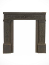 Antique Neoclassical Cast Iron Fireplace Surround in Joliet, Illinois