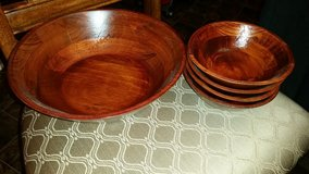 New / Pier 1 / Bamboo Wood 5 Piece Salad Bowl Set in Fort Campbell, Kentucky