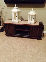 Pottery Barn wood console table in Lockport, Illinois