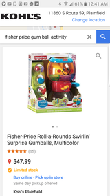 Fisher Price Roll a round gumballs in Naperville, Illinois