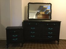 French Provincial Dresser, Nightstand and mirror in Ramstein, Germany