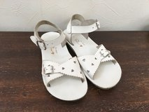 Saltwater Sandals - White Hearts - Child 13 in Okinawa, Japan