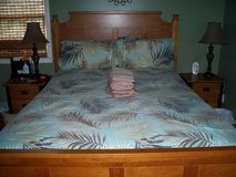Comforter w/Shams - Queen Blue Tropical in Cherry Point, North Carolina