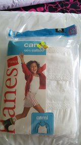 New pack of Hanes camis size 12 in Joliet, Illinois