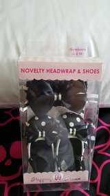 Novelty Headwrap and shoes new in Joliet, Illinois