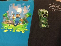 Boys size 10/12 Minecraft shirts in Ramstein, Germany