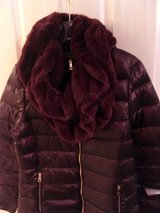 DOWN-FILLED COAT-IN-A-BAG & LONG FURRY SCARF SET in Lakenheath, UK