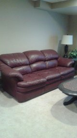 Leather couch and chair in Lockport, Illinois