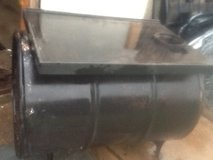 WOOD BURNING BARREL HEATER /STOVE/ CAST IRON GRIDDLE with stove pipe . in Lawton, Oklahoma