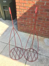 Red Metal Plant Stands in Cochran, Georgia