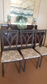 3 metal dinning chairs in Fort Rucker, Alabama