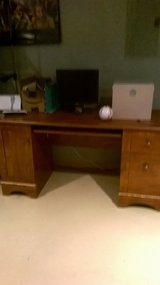 Brown desk in Lockport, Illinois