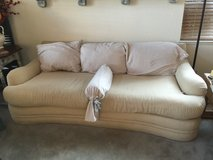 Cream Couch with 1/2 Chair N Ottoman in Fairfield, California