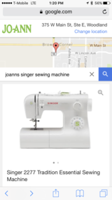 Singer sewing machine-like new with box in Travis AFB, California