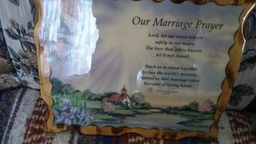 A marriage prayer wall hanging in Clarksville, Tennessee