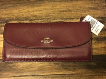 Coach Leather Wallet-wine color in Chicago, Illinois