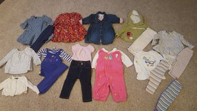 Lot of 6-12 months baby girl clothes GYMBOREE,  GAP,  SEVEN FOR ALL MANKIND, JUICY COUTURE in Bartlett, Illinois