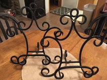 (NEW) Pair of Black Picture/Cookbook Iron Stands in Sandwich, Illinois