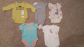 NEW w/tags 3 months baby girl onesies in Bartlett, Illinois