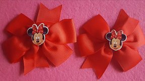 "3""  Minnie Mouse Boutique Hair Bows in Fort Bliss, Texas"