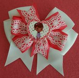 "Doc McStuffins Inspired Hair bow,measures 4 1/2"" approx in Fort Bliss, Texas"