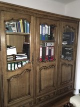 antique solid  wood bookcase  bibliotheque from France in Ramstein, Germany