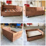 Dog bed made from a pallet in Aurora, Illinois