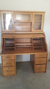 Oak Roll Top Desk in Yucca Valley, California