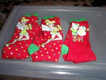 #P38 TINKERBELL SOCKS(2 PAIRS) HELLO KITTY SOCKS (1 PAIR) - $6 (HARKER HEIGHTS) in Fort Hood, Texas