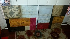 Pier 1 / Gold / Brown / Abstract 2 Piece Picture Set in Fort Campbell, Kentucky