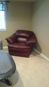 Leather chair and couch in Bolingbrook, Illinois
