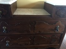 REDUCED Antique Marble Top Vanity/dresser/ stand in Cherry Point, North Carolina