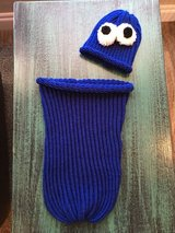 """Handmade Crocheted """"Cookie Monster"""" photo prop in Lawton, Oklahoma"""