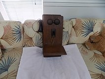 Antique Wood Wall Telephone, Early 1900's in Sanford, North Carolina