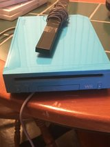 Blue Nintendo Wii with 10 games in Camp Lejeune, North Carolina