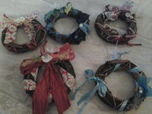 Dollar Days Handmade Crafted Wreathes Made/Assembled by Crafter in Naperville, Illinois