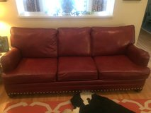 Red Leather Couch in Fort Polk, Louisiana