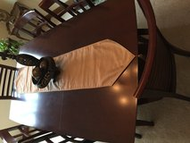 Cherry ding room set with 4 chairs & custom pad in Bolingbrook, Illinois