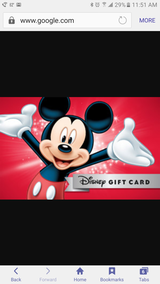 Disney gift cards 50×8=$400 in Beaufort, South Carolina
